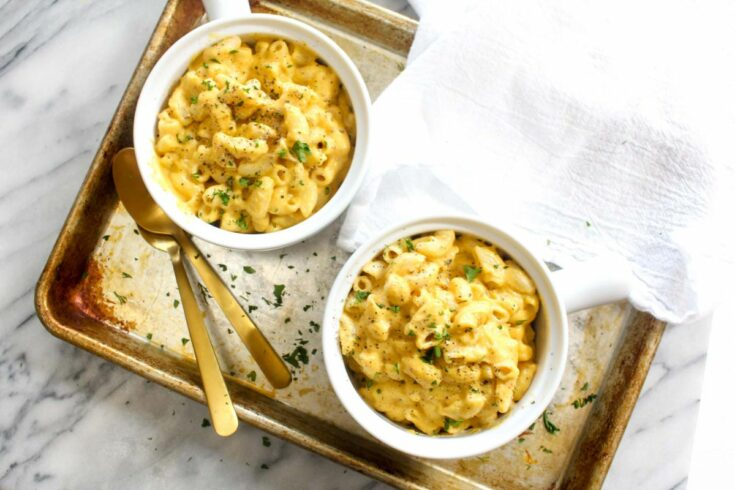 Dairy free mac and cheese with sauce