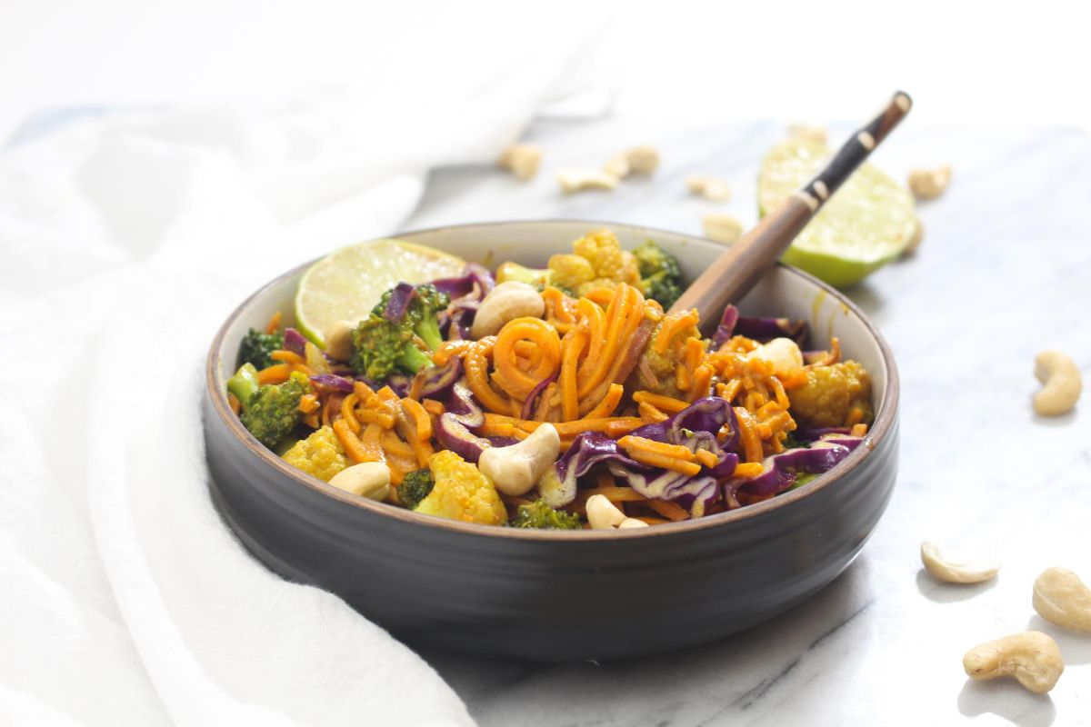 Delicious sweet potato noodle curry