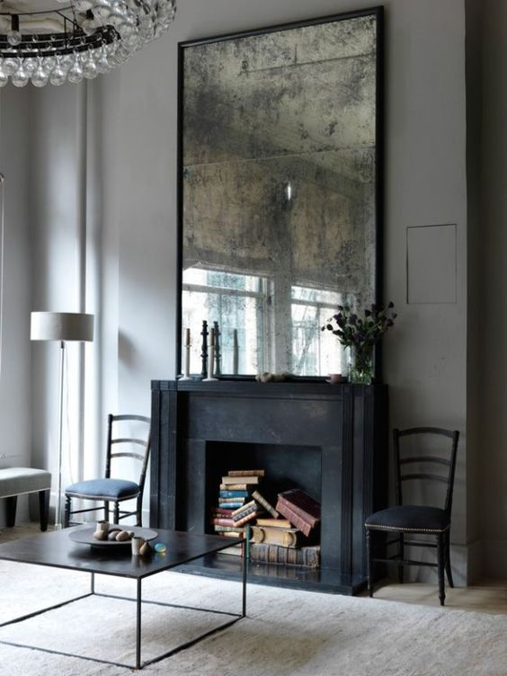 Dynamic and edgy fireplace design
