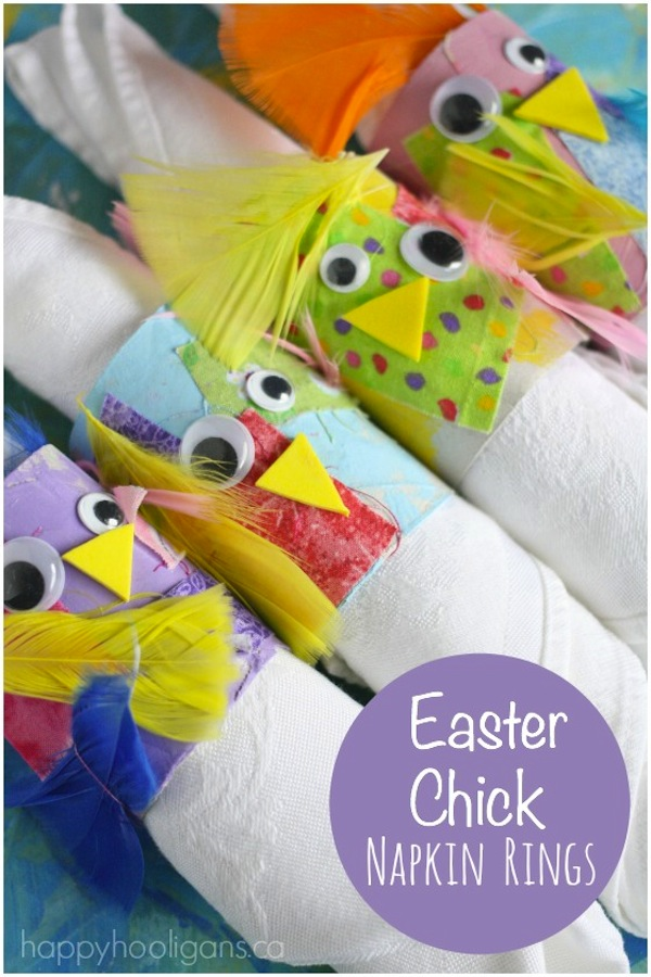 Easter chick napkin rings