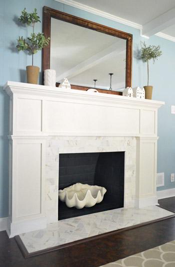 Fireplace marble redo