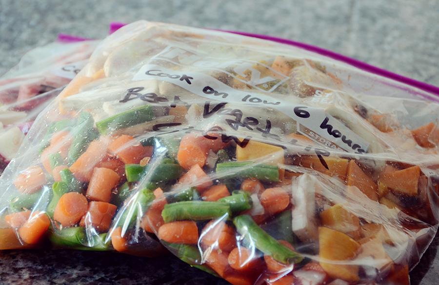 Freezer crockpot beef vegetable stew meal 2