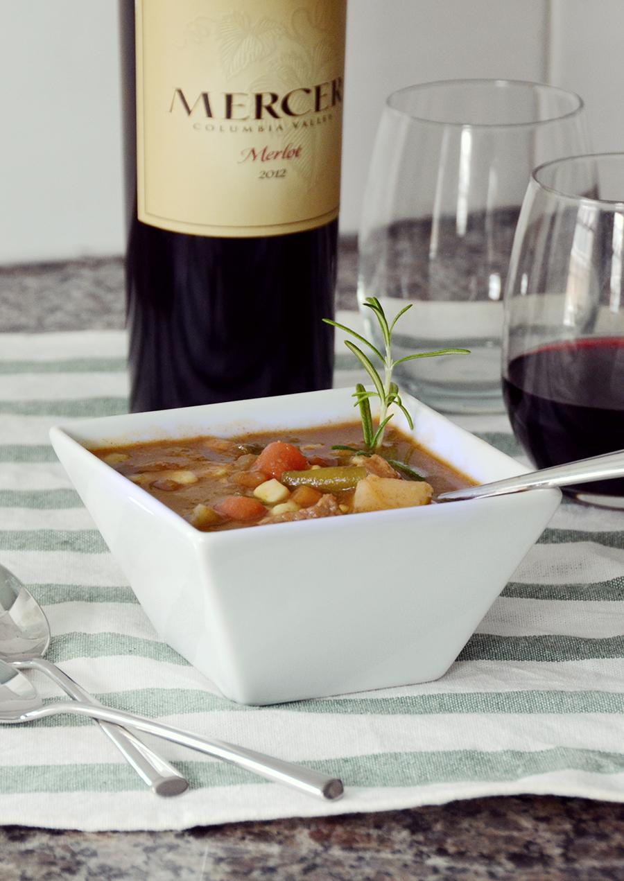 Freezer crockpot beef vegetable stew meal 3