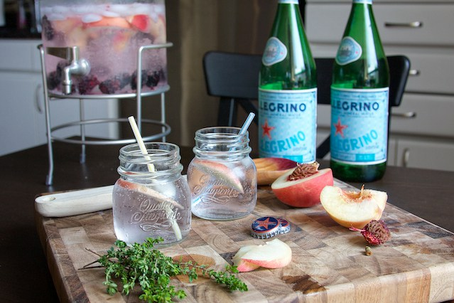 Fruit infused sparkling water