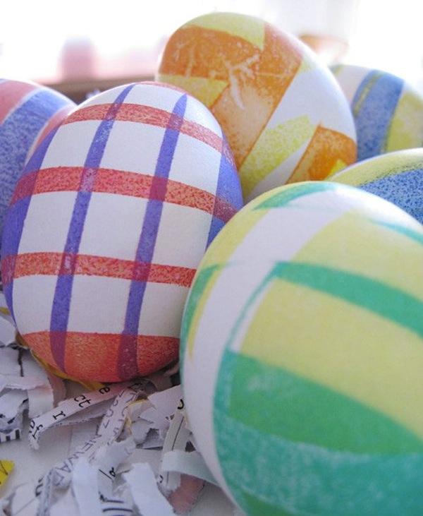 Geometric design eggs