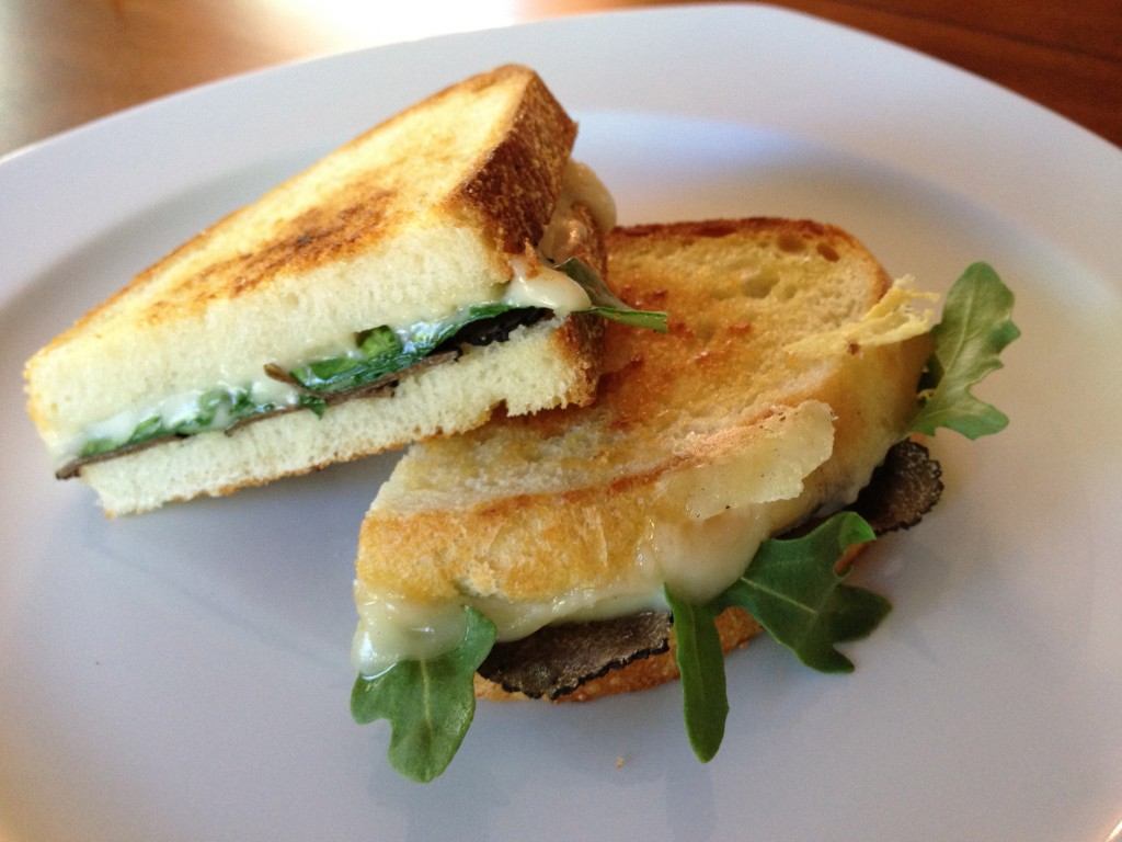 Grilled cheese with truffle oil