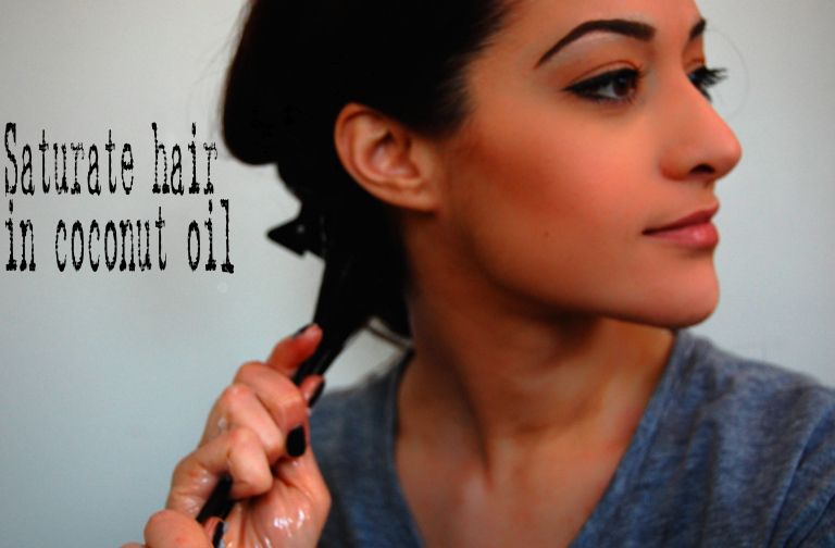Hair mask coconut oil