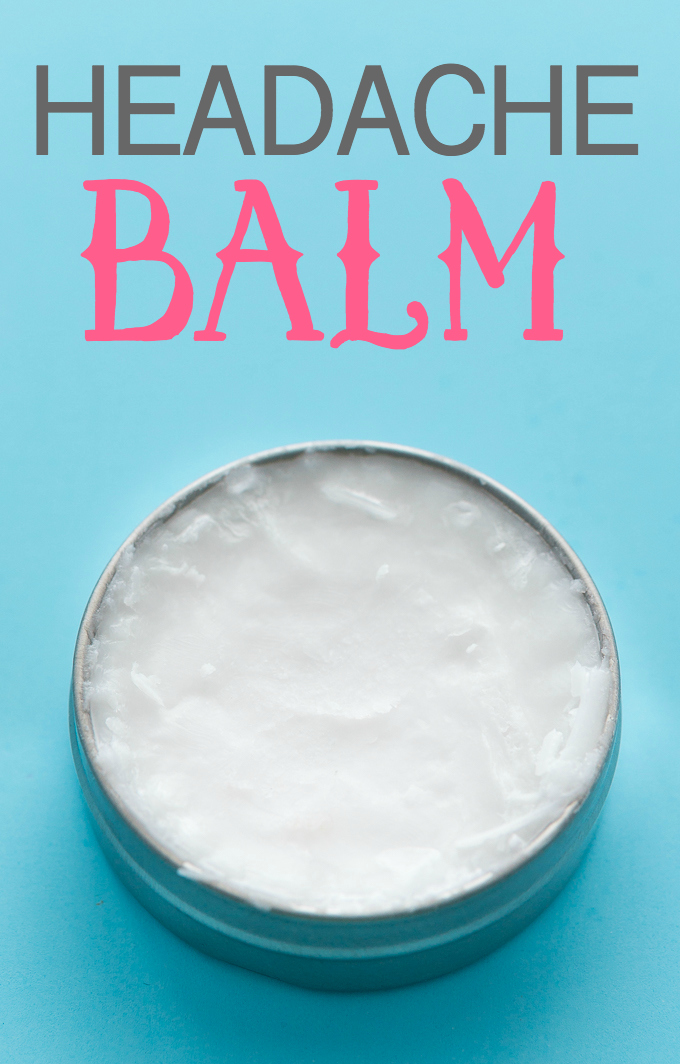 Headache balm using coconut oil