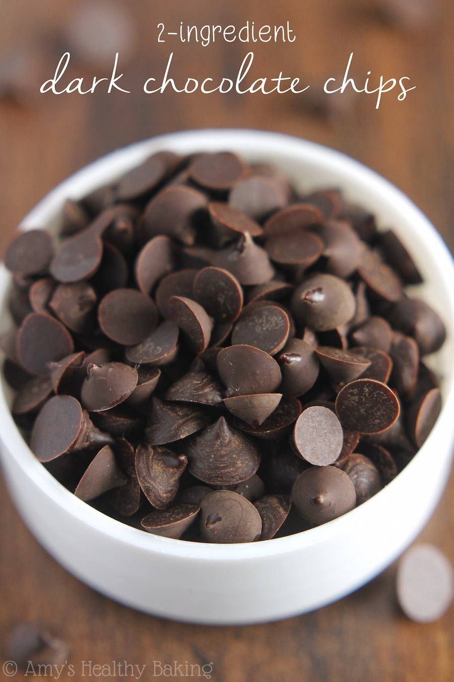 Healthy 2 ingredient dark chocolate chips