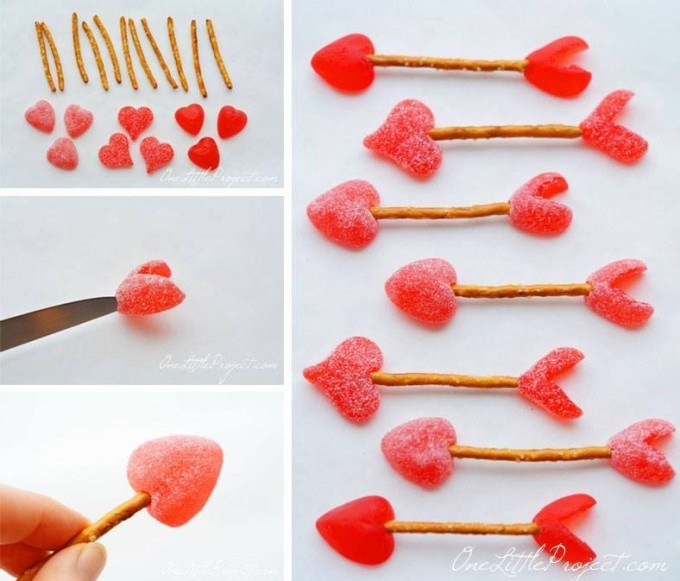 Heart shaped gummies