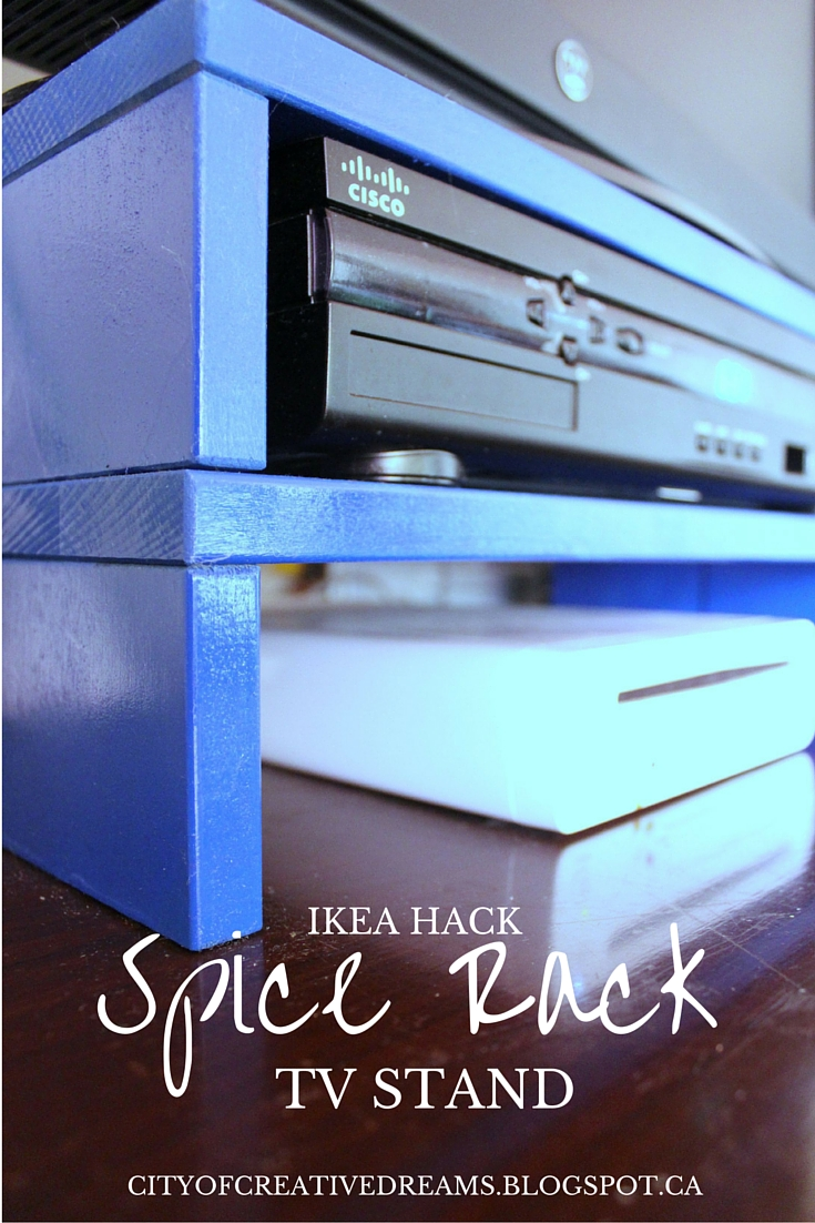 Ikea hack spice rack to tv stand