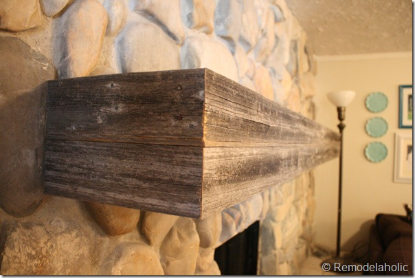 Installing a wood mantel on a stone wall 811