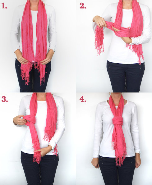 Knotted scarf how to