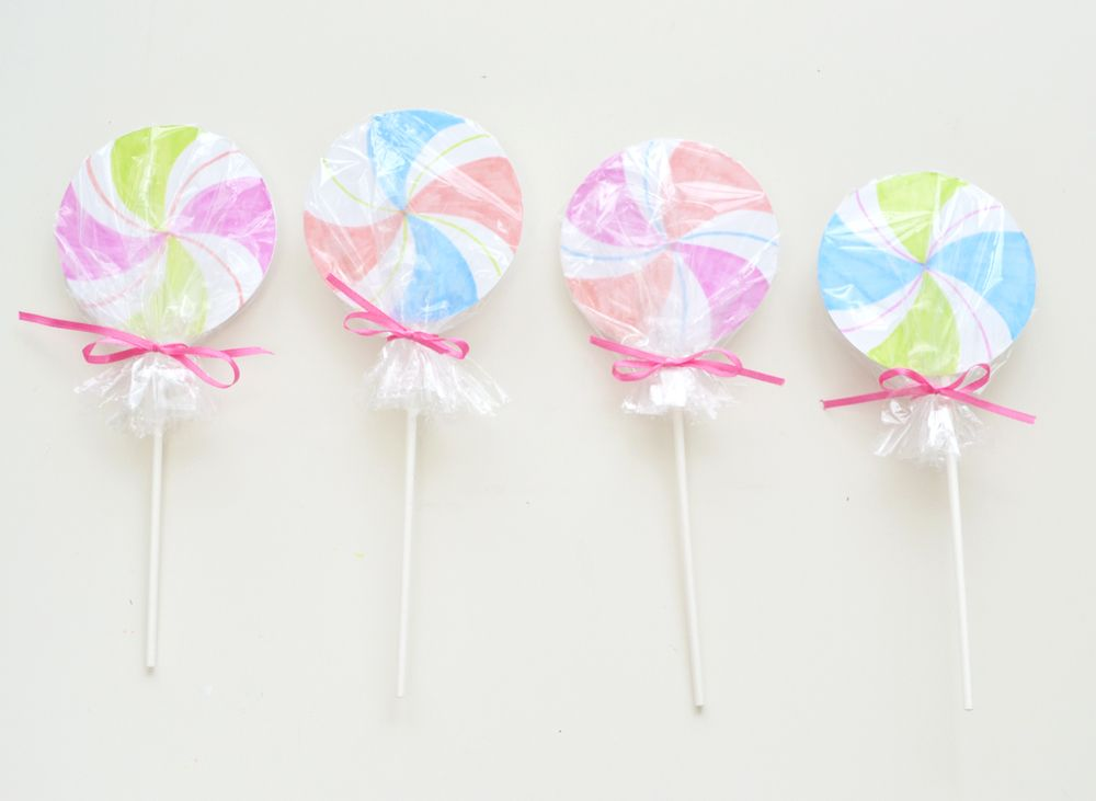 Lollipop party invitations craft