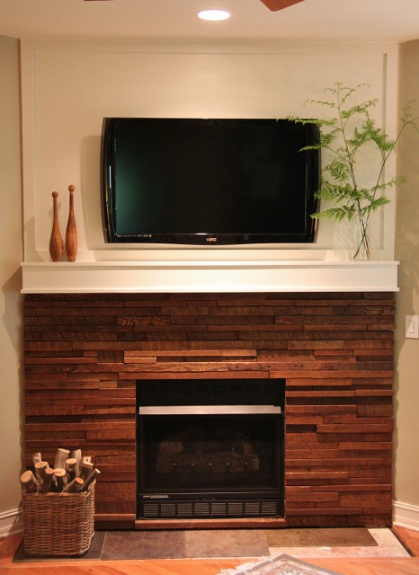 Mosaic Wood Fireplace Redo