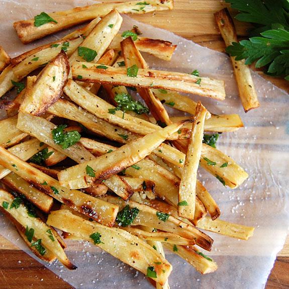 Parsnips truffle fries