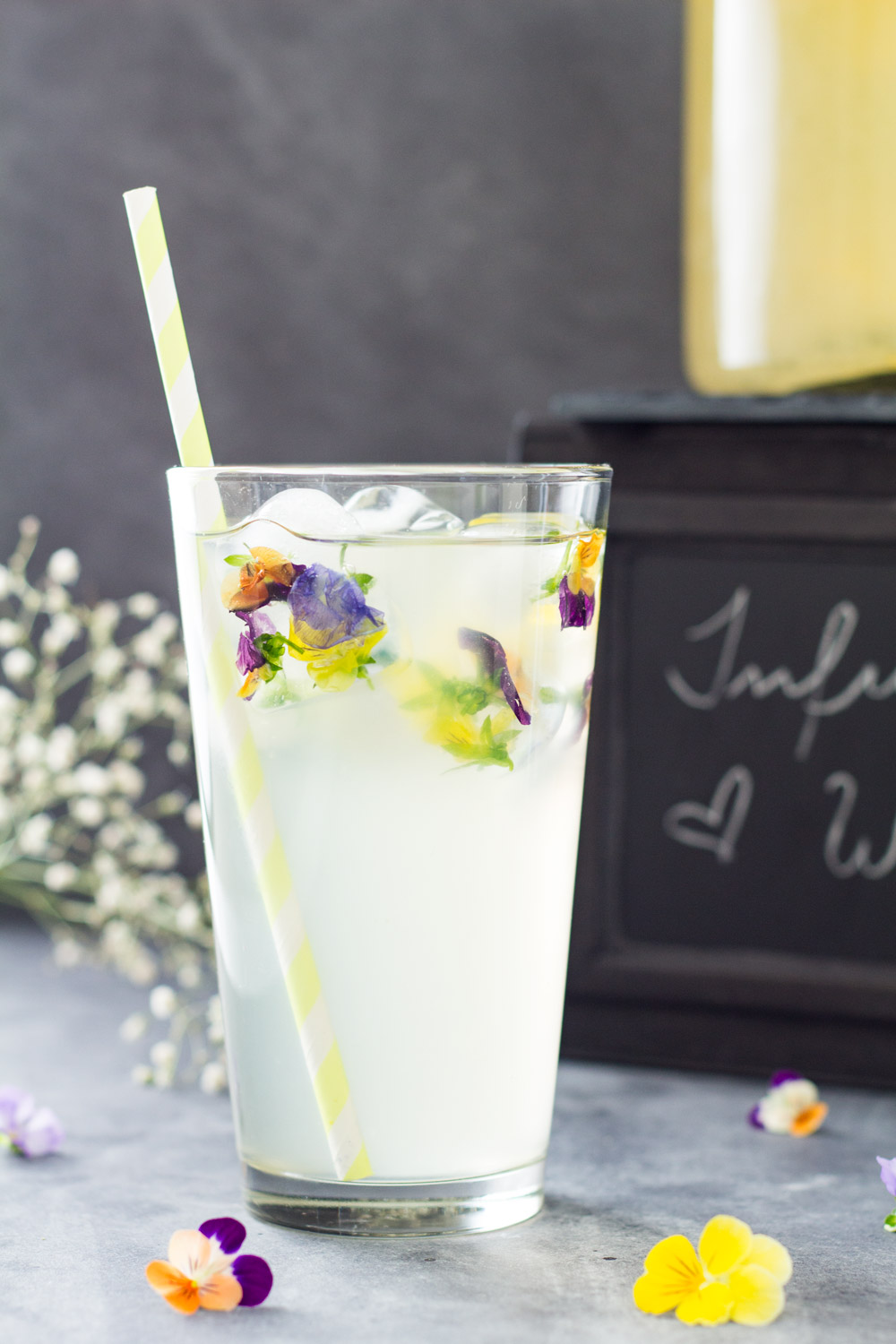 Passion fruit lemon infused water