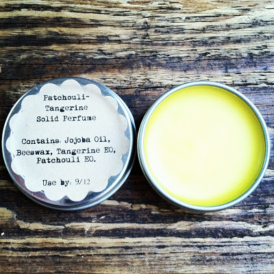 Patchouli tangerine solid perfume