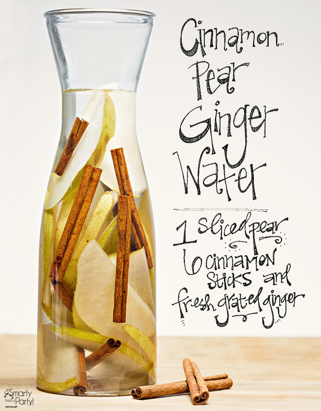Pear cinnamon ginger infused water