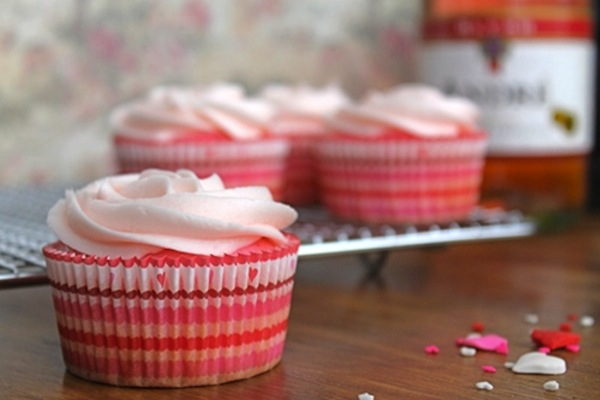 Pink champange cupcakes