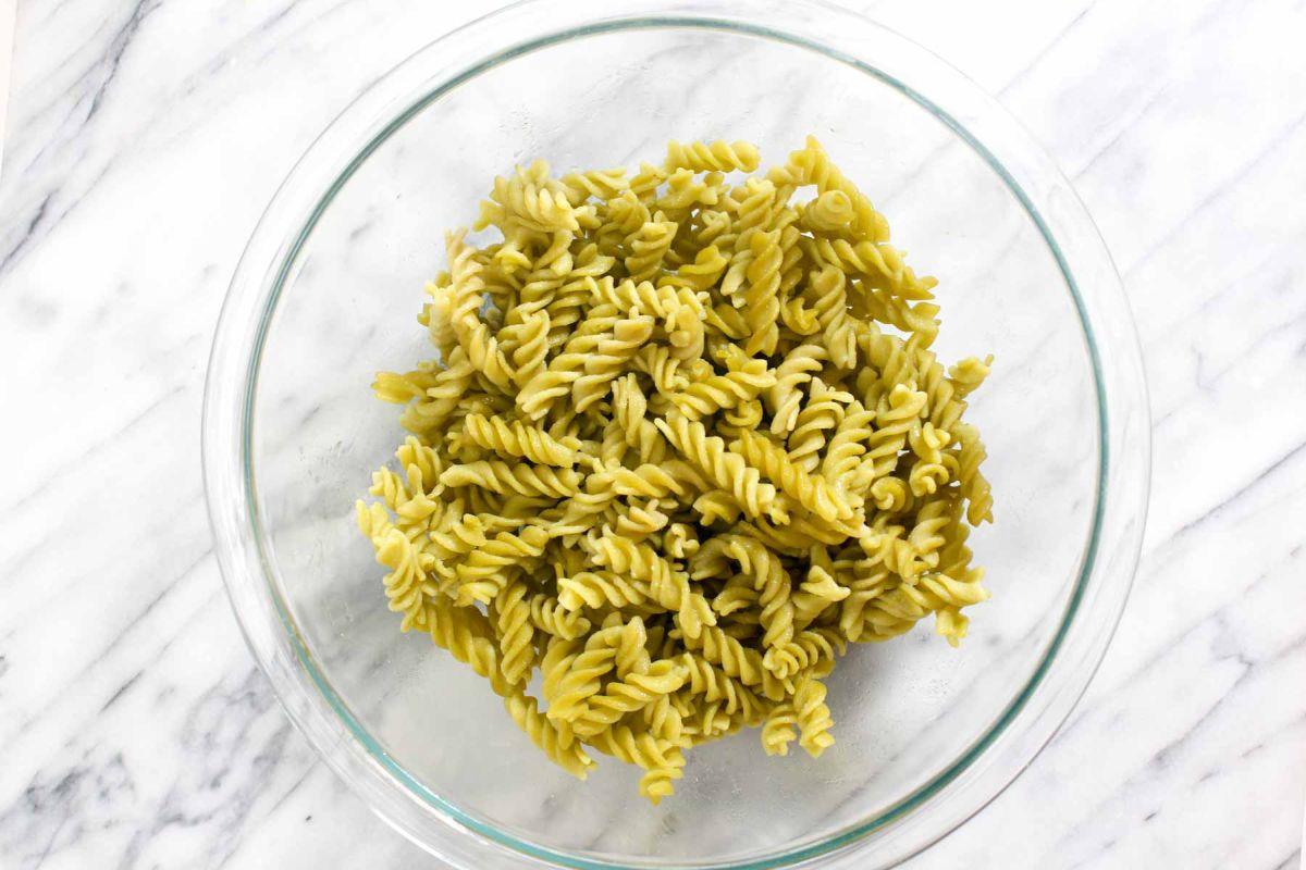 Protein packed pesto pasta pasta