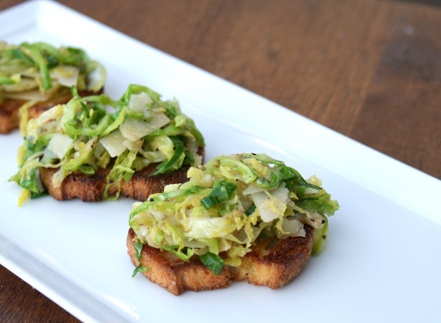 Shaved brussels sprouts with parmesan and tuffle oil