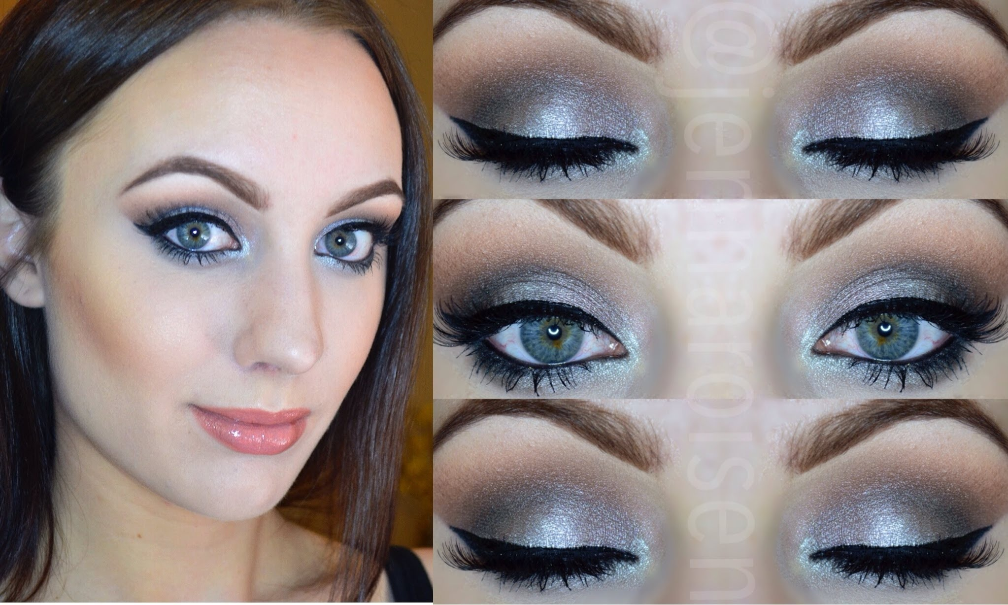 Shimmery slate smoky eye