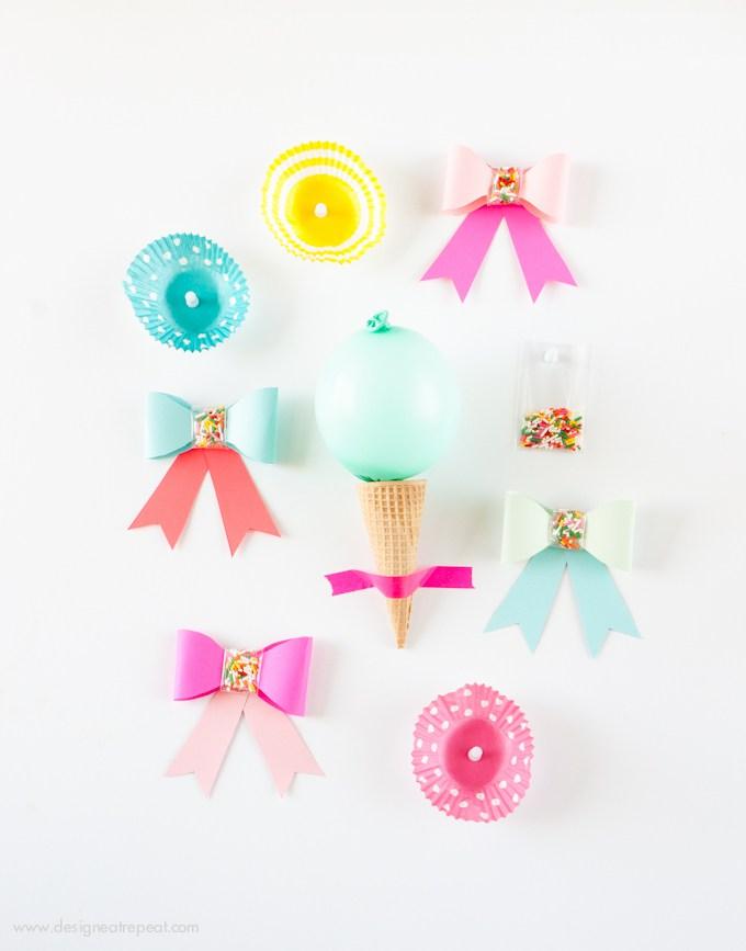 Sprinkle paper bows