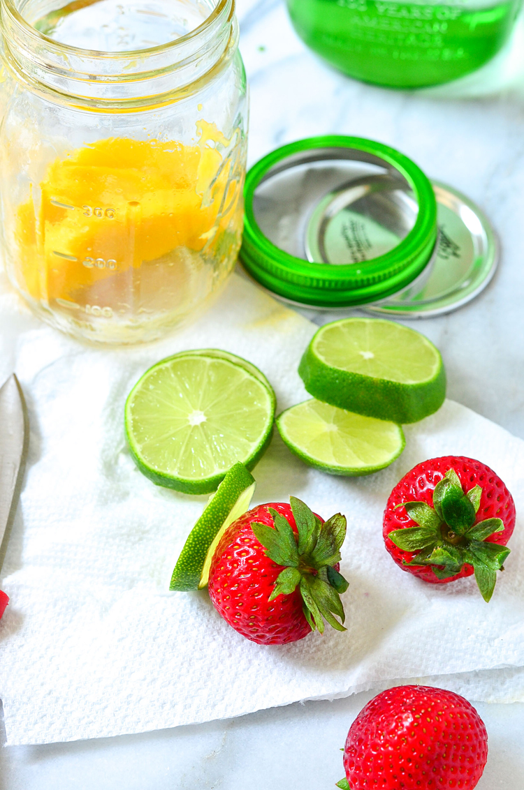 Strawberry mango infused water recipe
