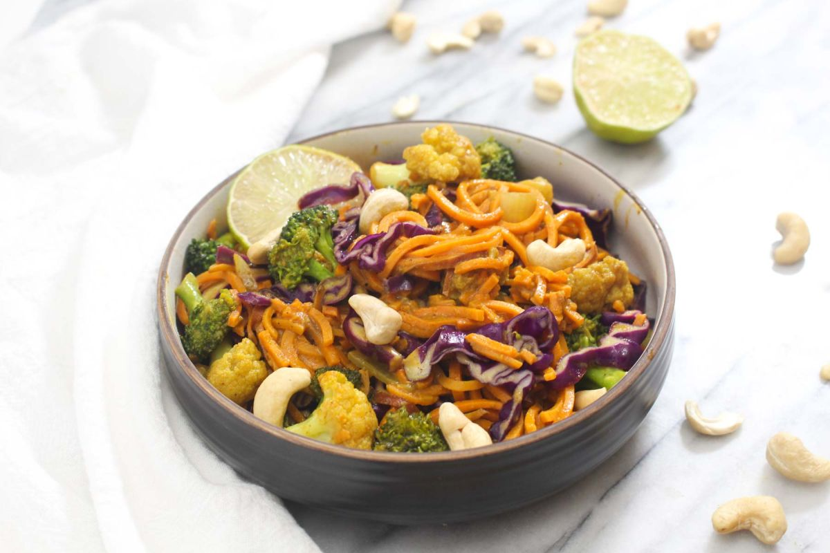 Sweet potato noodle curry recipe