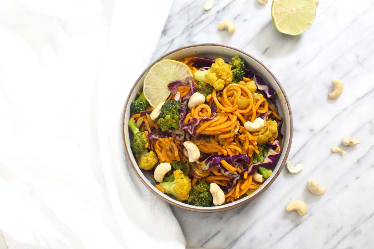 Sweet potato noodle curry