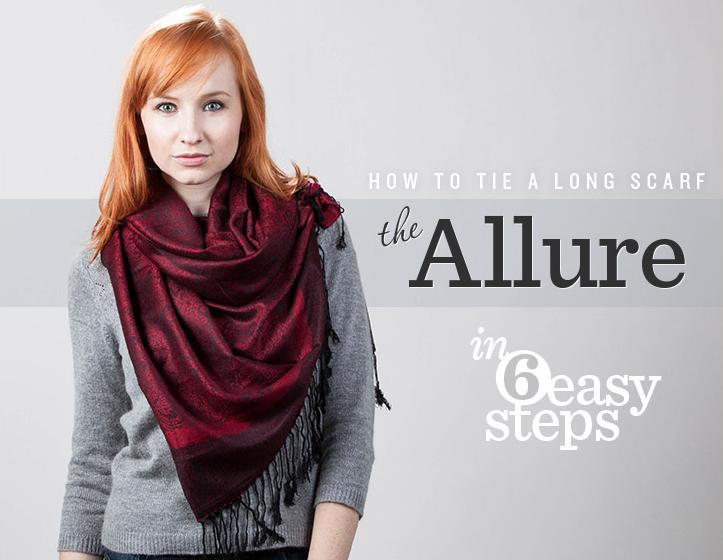 The allure scarf tie technique