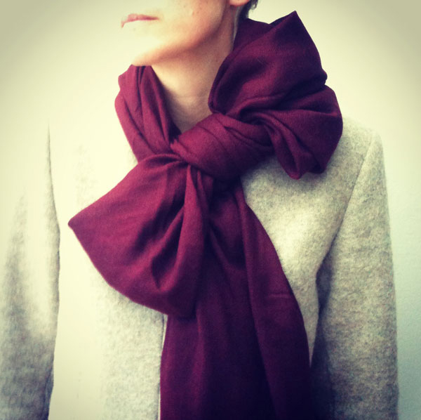 The bow scarf tie