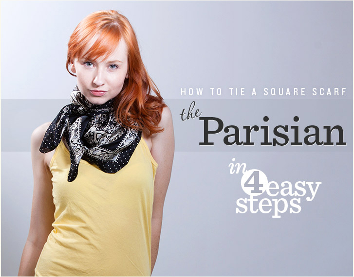 Tie a scarf the parisian way