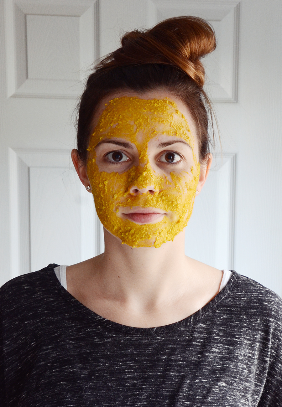 Turmeric face mask step 4