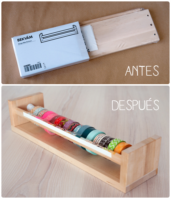 Washi tape rack diy