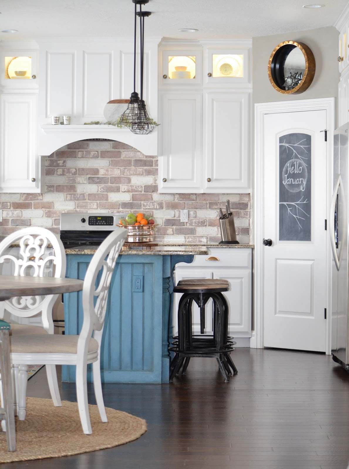 Diy brick veneer brick backsplash