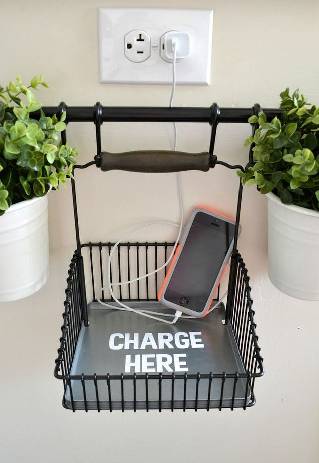 Diy charging station using ikea s fintorp system how to organizing repurposing upcycling