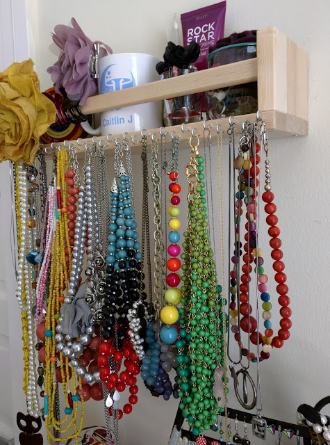 Diy ikea space rack hack jewelry