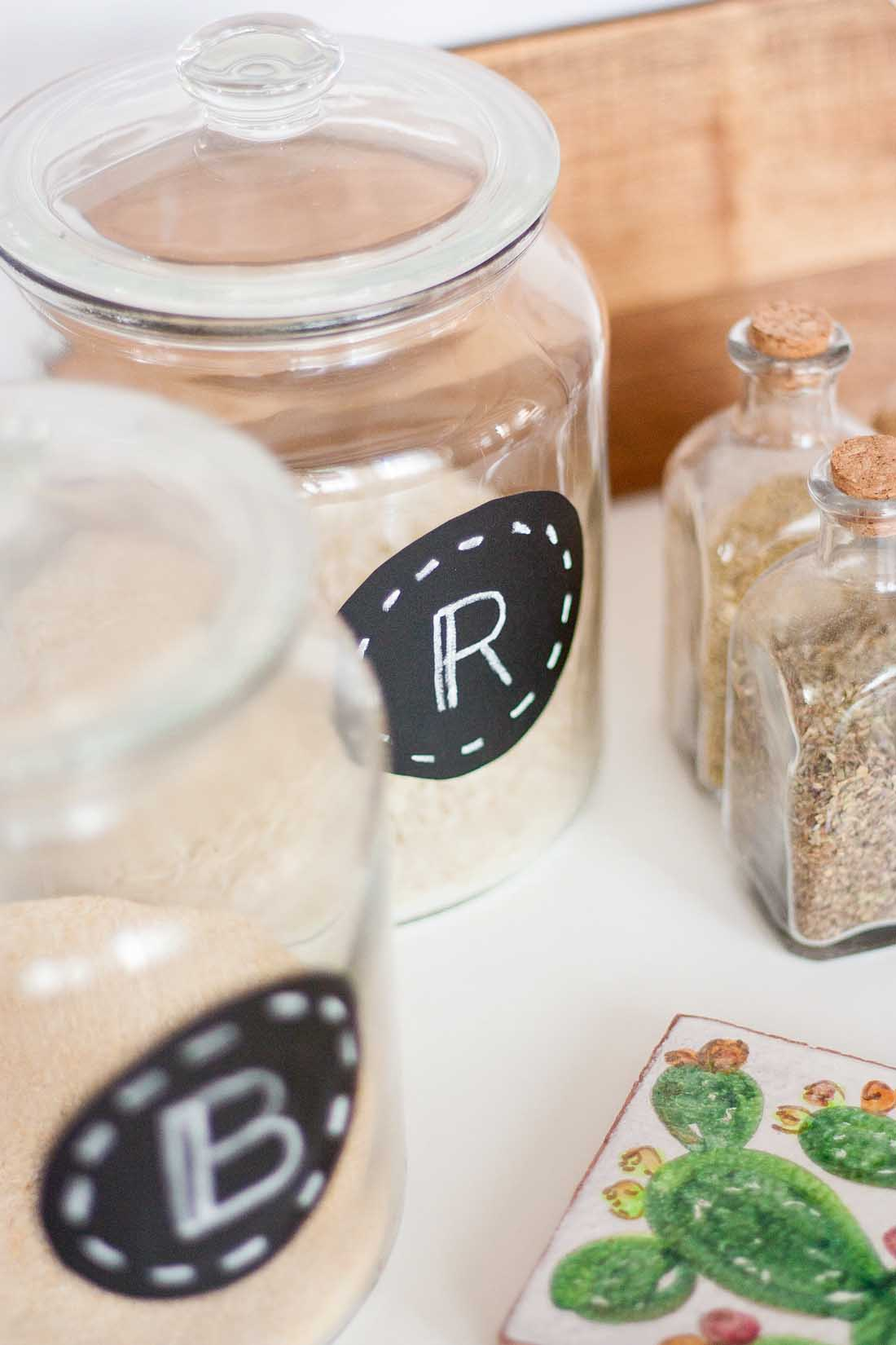 Diy pantry labels kitchen organization set1