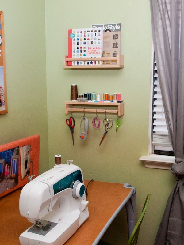 DIY Sewing Rack Spice Rack Hack