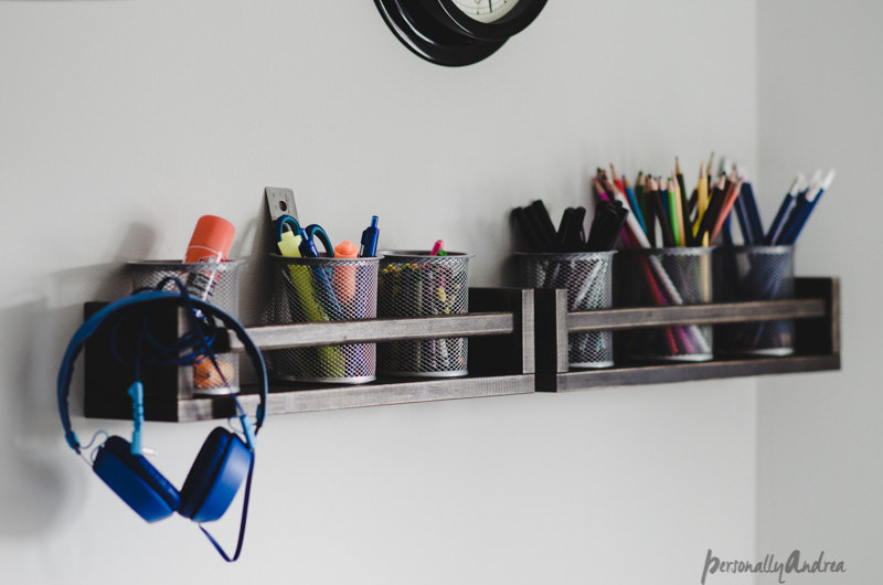 Diy writing rack from spice rack