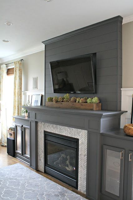 fireplace makeover with tv