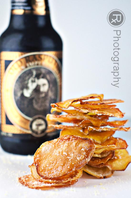 Ovenfried truffle potato chips