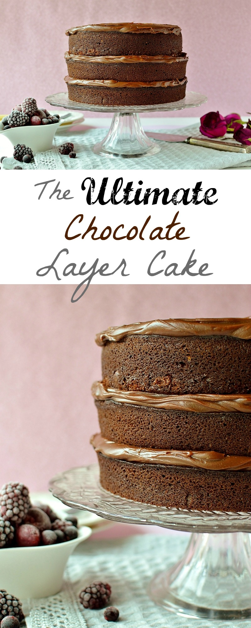 Ultimate chocolate layer cake pinterest