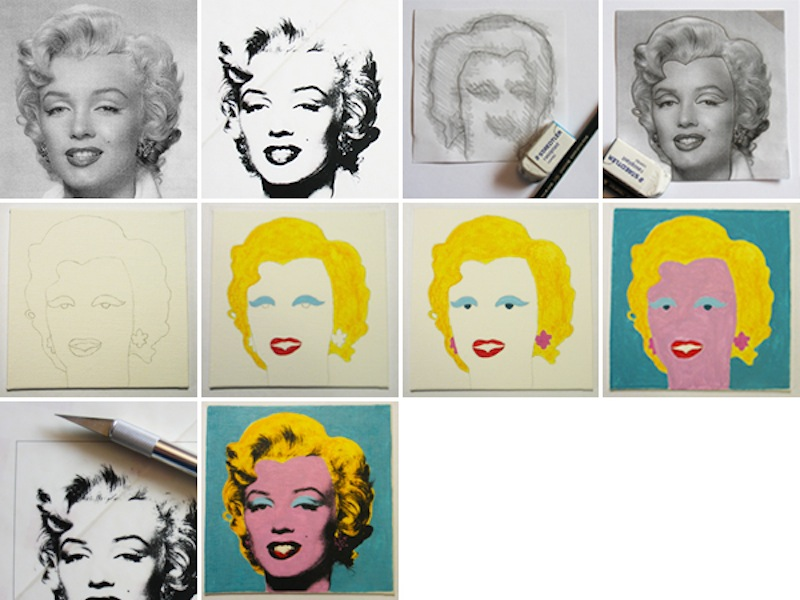Andy warhol marilyn recreation