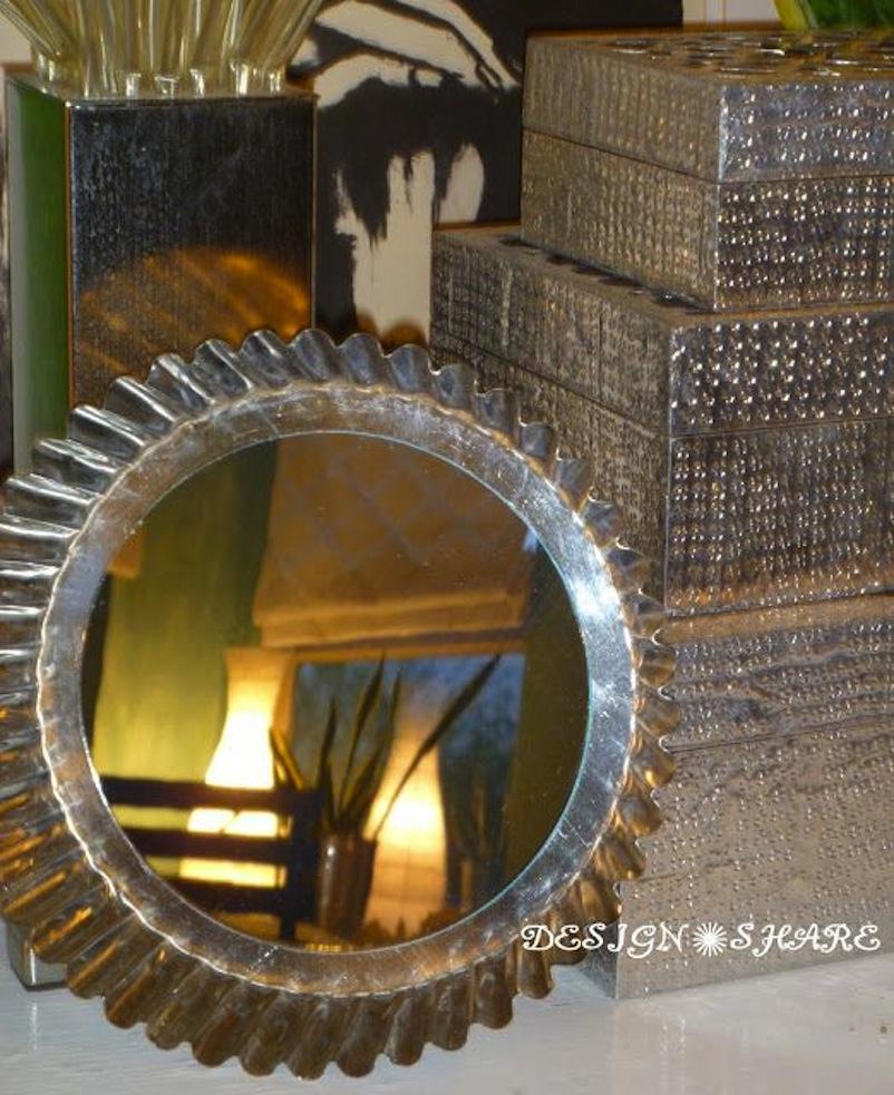 Angel food cake pan mirror