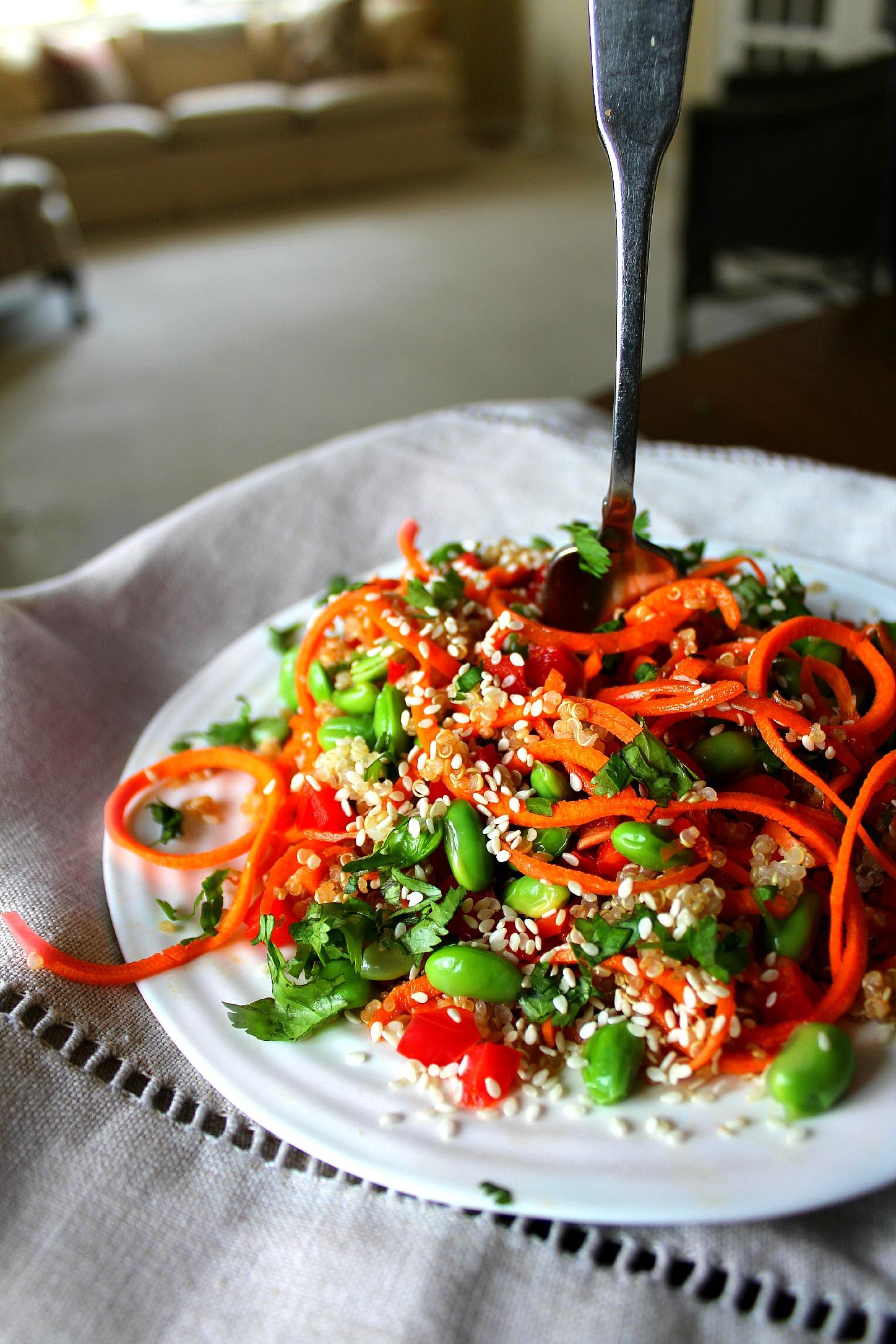 Asian sesame carrot salad