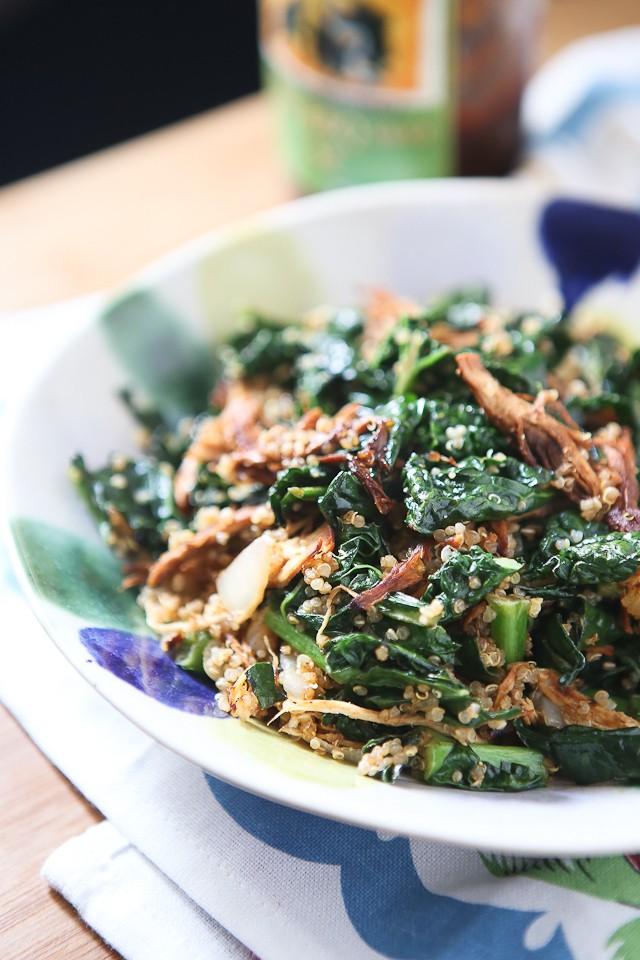 Bbq chicken kale quinoa bowl