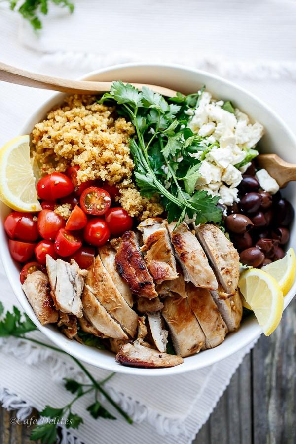 Balsamic chicken salad with lemon quinoa 20